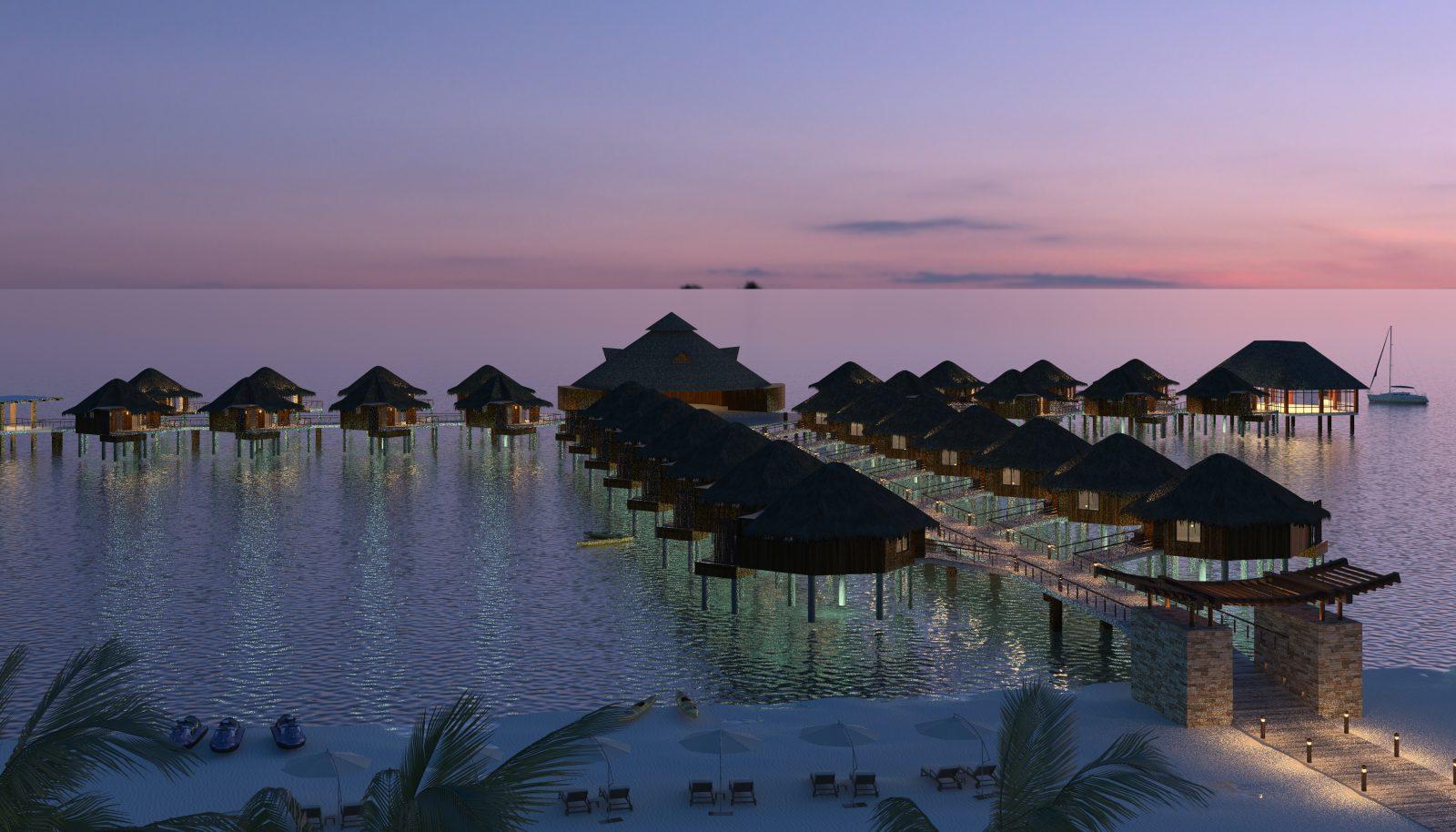 hoteles deslumbrantes bungalows sobre el agua hacen su