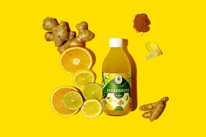 Citric Ginger Kombucha from Vida Bebida